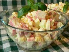 Osvěžující krabí salát Krabi, Potato Salad, Salads, Food And Drink, Potatoes, Ethnic Recipes, Blog, Diet, Lasagna