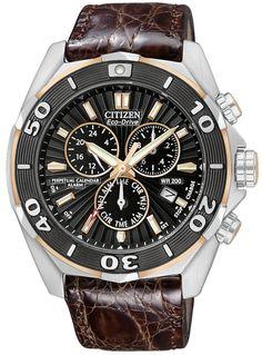 Citizen Signature Eco-Drive Perpetual Chronograph Mens Watch BL5446-01E