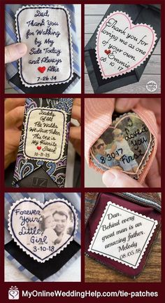 Shop a selection of Tie Patches for weddings or other occasions. Wedding Day Gifts, On Your Wedding Day, Dream Wedding, Bride Gifts, Wedding Ties, Wedding Favors, Father Of The Bride Outfit, I Loved You First, Thank You For Loving Me