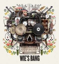 Van Coke Kartel - Wie's Bang - CD Cover Design by Merwe Marchand le Roux, via Behance Music Covers, Album Covers, South African Design, Visual Communication Design, Pochette Album, Album Cover Design, Kegel, Poster Design Inspiration, Music Artwork