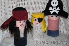 Red Ted Art's Blog » Blog Archive Quick Craft Post: More Cardboard Tube People - Pirates, Grannies & Robbers » Red Ted Art's Blog