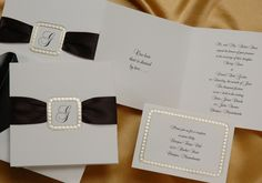 Ribbon Wedding Invitations by www.invitationdiscounters.com