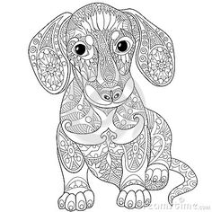 Zentangle Dachshund Dog