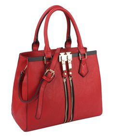 Look what I found on #zulily! Red Zip-Front Tote #zulilyfinds
