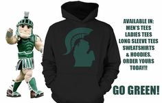 Order at www.teechip.com/SpartanState  Michigan State Spartans MSU Apparel Clothing Hooded Sweatshirt Tshirt