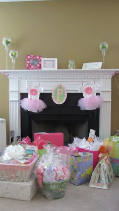 Tutu baby girl shower