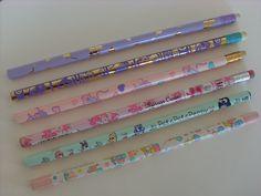 Vintage Sanrio pencils from 90's  by lucychan80, via Flickr