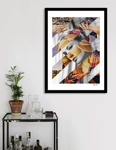 "Discover «Botticelli's ""Madonna of the Magnificat"" & Grace Kelly», Exclusive Edition Fine Art Print by Luigi Tarini - From $24.9 - Curioos"