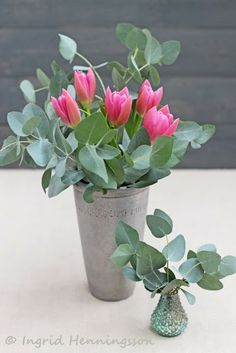 Eucalyptus-Pink Tulips-Ingrid Henningsson-Of Spring and Summer