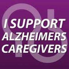 I Support Alzheimers Caregivers #alzheimerscaregivers