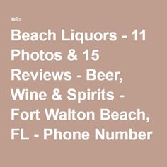 Beach Liquors - 11 Photos & 15 Reviews - Beer, Wine & Spirits - Fort Walton Beach, FL - Phone Number - Yelp