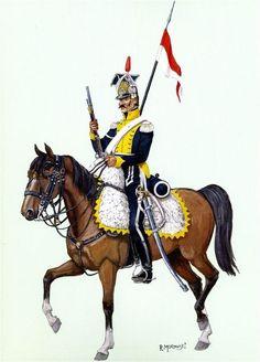 Polish ''Vistula Legion'' of Uhlan Lancers Empire, Army Uniform, Military Uniforms, Royal Guard, French Army, Arm Armor, Napoleonic Wars, Modern Warfare, American Civil War