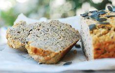 Gluten Free Buckwheat And Chia Bread - Foreverfit. Loaf Recipes, Whole Food Recipes, Bbq Menu, Mint Salad, Food Charts, Gluten Free Cakes, Summer Treats, Buckwheat, Fitness Nutrition