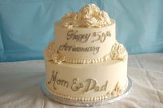 Simple 50th anniversary cake