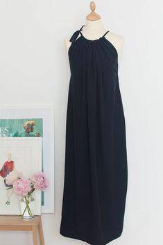 Fashiontamtam-schwarzesMaxikleid-Neckholder-langesKleid-Maternity-818-11
