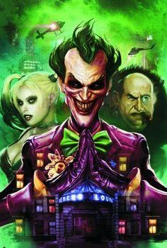 View an image titled 'Joker Unhinged Comic Cover Art' in our Batman: Arkham City art gallery featuring official character designs, concept art, and promo pictures. Batman Arkham City, Gotham City, Le Joker Batman, Harley Quinn Et Le Joker, Spiderman, Batman Stuff, Batgirl, Comic Books Art, Comic Art