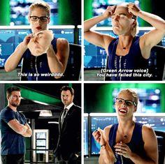 """This is so weirdddd"" - Best.Felicity.EVER! #Arrow"