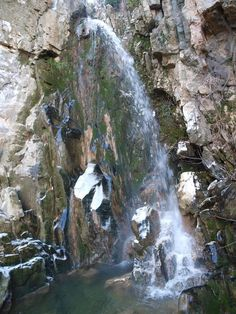 Falling waters in Mouresi, Pelion