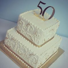 50 anniversary Found on Bing from Anniversary Cake Pictures, Golden Anniversary Cake, 50th Wedding Anniversary Decorations, 50th Anniversary Cakes, Anniversary Parties, Anniversary Ideas, Parents Anniversary, 50th Cake, Pasta