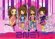 2NE1 CHIBI by OdiPop.deviantart.com