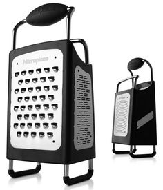 $35 Microplane 34006 4-Sided Box Grater. This product has been designated Fine Cooking's Best Overall Box Grater. In January 2009 it took top honors in the Kitchen Hand Tools category of the 2009 Housewares Design Awards.
