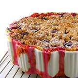 One Perfect Bite: Cherry Pie with Streusel Topping  I made it with Door County cheeries. Awesome. Watch out for bubbling over.