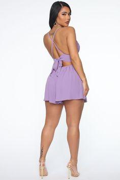 Soft Spring Romper - Violet – Fashion Nova Buttocks Workout, Butt Workout, Girls Blue Dress, Blue Dresses, Crochet Romper, Black Girl Fashion, Spaghetti, Summer Outfits, Rompers