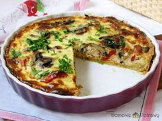 Ketogenic Recipes, Low Carb Recipes, Cooking Recipes, Healthy Recipes, Quiche, Polish Recipes, Keto Dinner, Keto Results, Catering
