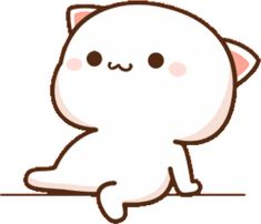 Cute Funny Cartoons, Cute Cartoon Pictures, Cute Love Pictures, Hug Stickers, Cute Anime Cat, Bear Gif, Animated Emoticons, Cat Hug, Chibi Cat