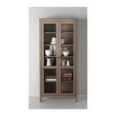 hemnes biblioth que et vitrine en brun gris id es pour la maison pinterest hemnes. Black Bedroom Furniture Sets. Home Design Ideas