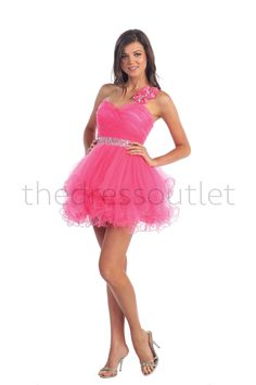 Homecoming One Shoulder Sassy Prom Short Mini Party Dress