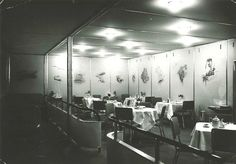LZ 129 Hindenburg, dining room by kitchener.lord, via Flickr