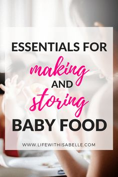 Essentials for making and storing homemade baby food Essentials for making and storing homemade baby food! My collection of must-have products for preparing baby food at home. Perfect guide for moms with little ones who are just starting solids. Toddler Meals, Kids Meals, Toddler Food, Becoming Mom, Baby Food Recipes, Kid Recipes, Food Baby, Food Tips, Food Ideas