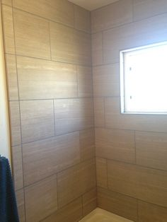 large subway tiles in a shower - Bathrooms Forum - GardenWeb ...