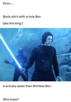 i mean, honestly though. not gunna argue with this one! Star Wars Kylo Ren, Rey Star Wars, Star Wars Art, Star Trek, Star Citizen, Reylo, Amour Star Wars, Kylo Ren And Rey, Star Wars Jokes