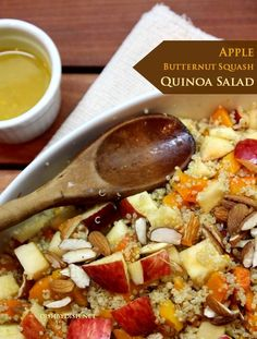 Apple, Butternut Squash & Quinoa Salad + I wish you love by Cooking up a Storm, Dish by Dish