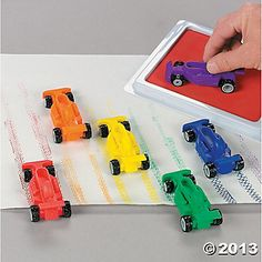 12 Vroom Car Stamps- makes tiny little shape tracks