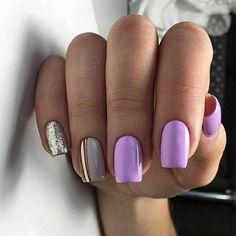 Acrylic Nail Shapes, Cute Acrylic Nails, Acrylic Nail Designs, Cute Nails, Gel Nails, Square Nail Designs, Short Nail Designs, Cool Nail Designs, Short Square Nails