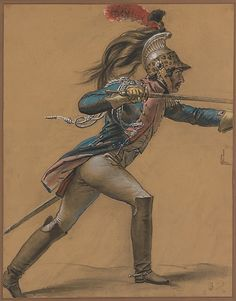 Anne-Louis Girodet de Roussy-Trioson, A French Dragoon, Study for 'The Revolt at Cairo', c. 1809