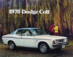 Carsthatnevermadeitetc — Dodge Colt brochure, 1975. A captive import AKA... Mitsubishi Colt, Mitsubishi Galant, Strange Cars, Car Brochure, Us Cars, Car Photos, Back In The Day, Plymouth, Carousel