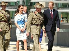 4/19/14 William & Kate at the Australian Airforce Base in Amberley.