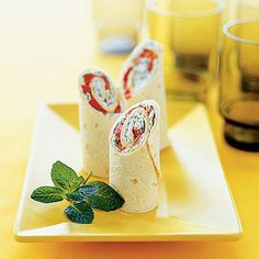 Choose a whole-wheat wrap for a fiber boost in these ‪#‎MiniPepper‬, goat cheese, & fresh mint wraps: http://bit.ly/1BnfhLE