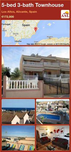 5-bed 3-bath Townhouse in Los Altos, Alicante, Spain ►€172,000 #PropertyForSaleInSpain