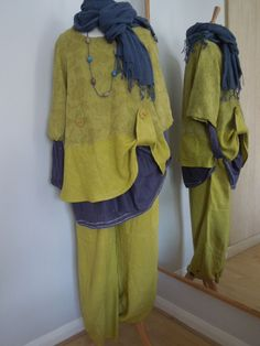 12-16 UK,100% LINEN Tunic by BOHEME NORWAY, Pistachio,Lagenlook Arty BoHo Quirky | eBay