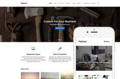 Flatiron Business WordPress theme by WPExplorer on Creative Market