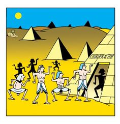 Cartoon: chiropractor (medium) by toons tagged chiropractor,ancient,egypt,pyramids,hospitals,medical,pharoh