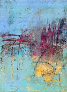 "artcafe:  Serena BartonBeliefMedium OIl/Cold Wax/Ink on Arches OIl PaperSize 16"" x 12"""