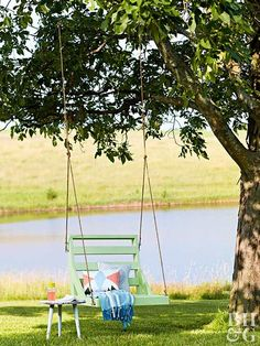 Summertime and the living is easy—especially when you're relaxing in this hanging swing chair.