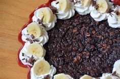 chocolate & banana baked oatmeal