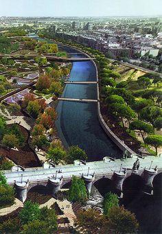 Madrid Río Manzanares. Estupenda fotografía!!!!